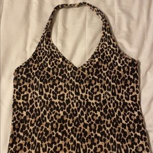 Halter Cheetah Top